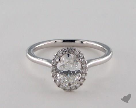 18K White Gold  Hidden Wedding Ring