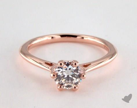 14K Rose Gold Three Stone Setting