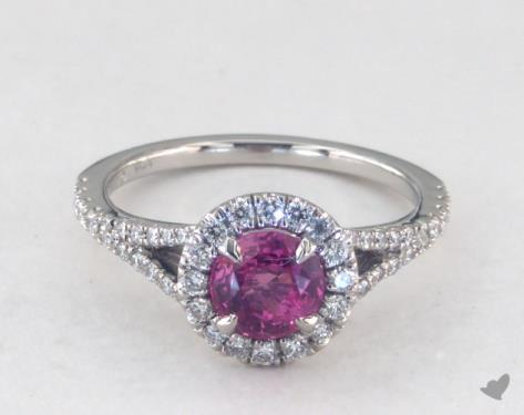 white gold sapphire pink htm halo peachcy round peachy and rings ring engagement diamond cut natural in