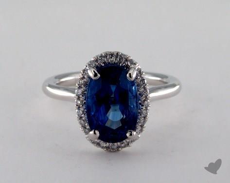 14K White Gold  Hidden Wedding Ring