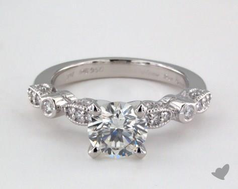Platinum  Vintage Engagement Ring