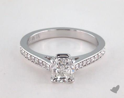18K White Gold Pave Setting