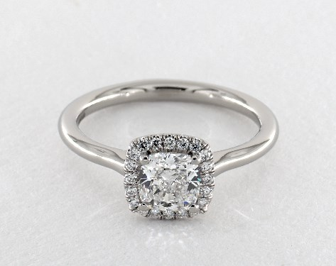 Platinum Halo Setting