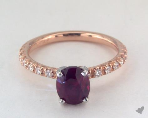 14K Rose Gold Pave Setting