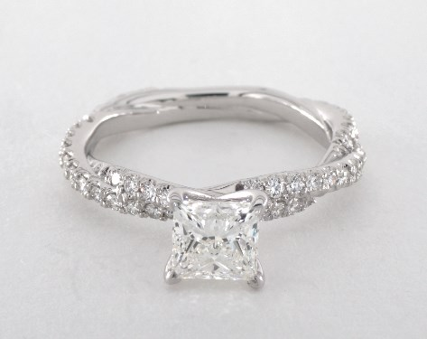 in white gold set certified princess diamond carat wedding rings vintage ring gia cut