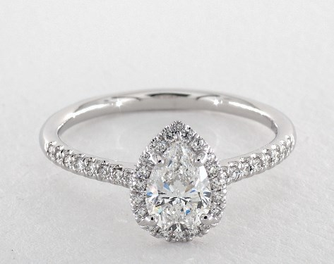 engagement diamond wedding trilogy pear rings heaven