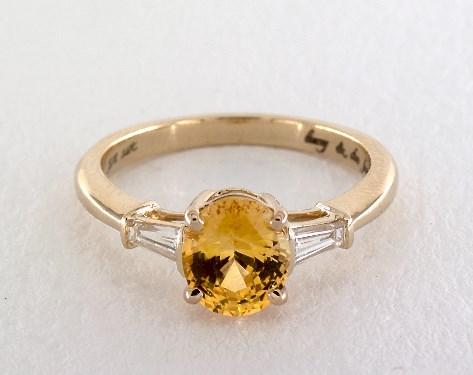 14K Yellow Gold Side stones Setting