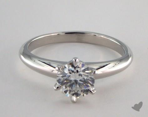 Platinum  Solitaire Engagement Ring