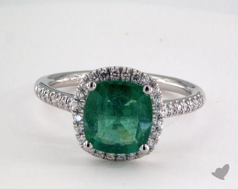 Platinum  Halo Engagement Ring