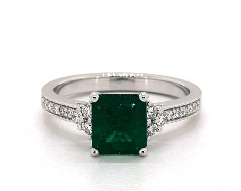 81794e374a9a3 Green Emerald Engagement Rings | JamesAllen.com
