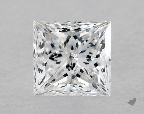 0.72 Carat D-I1 Ideal Cut Princess Diamond