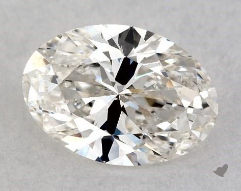 0.77 Carat J-VS2 Oval Cut Diamond
