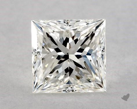 0.77 Carat H-VS2 Ideal Cut Princess Diamond