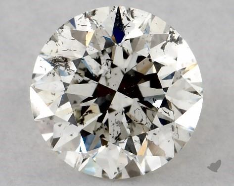 0.71 Carat J-I1 Excellent Cut Round Diamond