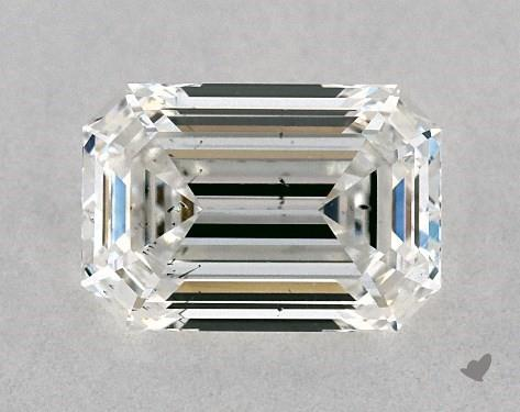 0.80 Carat G-SI2 Emerald Cut Diamond