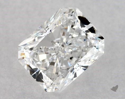 1.00 Carat E-SI1 Radiant Cut Diamond