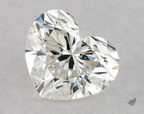 0.71 Carat H-SI1 Heart Shape Diamond