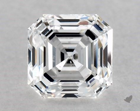 1.00 Carat D-SI1 Square Emerald Cut Diamond