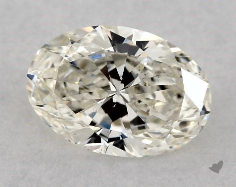 0.70 Carat J-VS2 Oval Cut Diamond