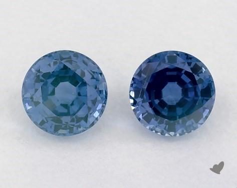 1.43 Total Carat Weight Round Natural Blue Sapphires