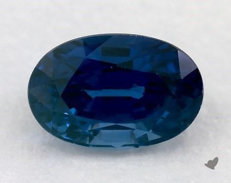 <b>0.75</b> carat Oval Natural Blue Sapphire