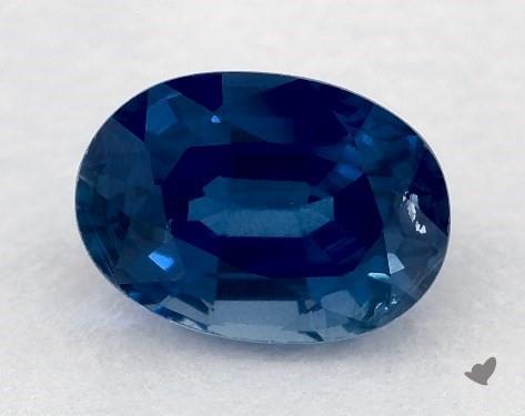 <b>0.76</b> carat Oval Natural Blue Sapphire