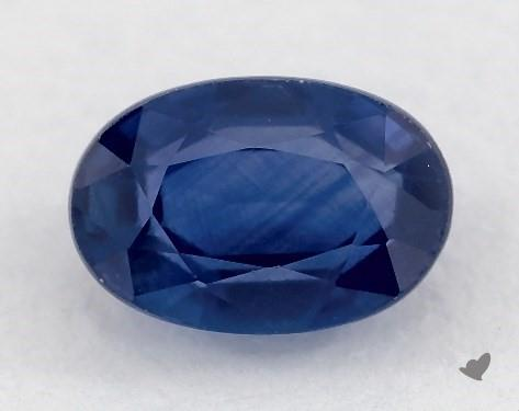0.72 carat Oval Natural Blue Sapphire