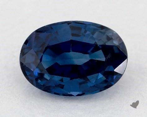 0.71 carat Oval Natural Blue Sapphire