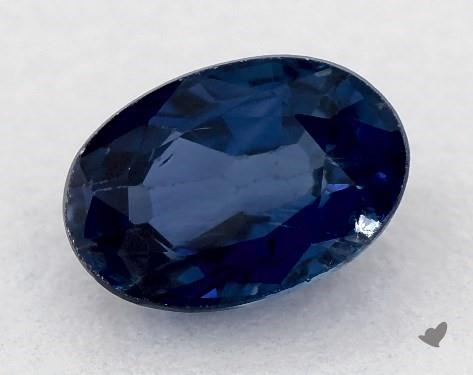 0.71 carat Oval Natural Blue Sapphire
