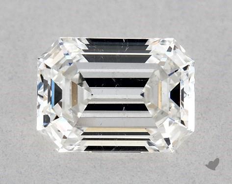 0.86 Carat F-SI2 Emerald Cut Diamond