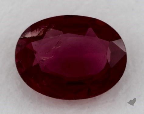 <b>0.72</b> carat Oval Natural Ruby