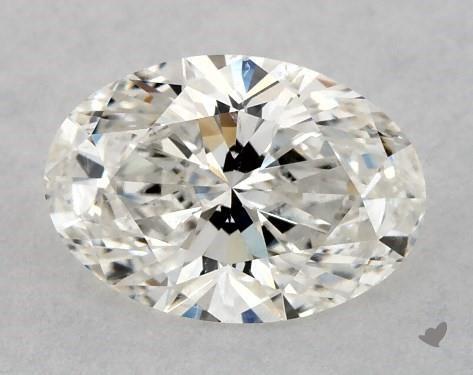 0.70 Carat H-SI1 Oval Cut Diamond