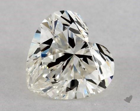 0.81 Carat K-VS2 Heart Shape Diamond