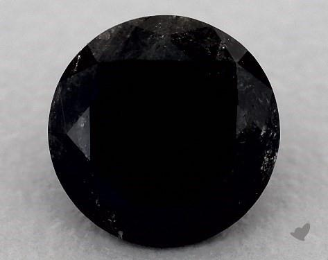 1.65 Carat FANCY - Black Round Cut Diamond