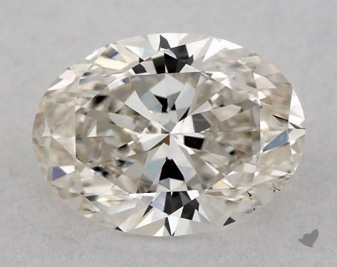 0.71 Carat I-SI1 Oval Cut Diamond