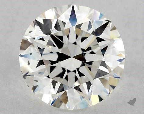 2.18 Carat H-VS2 Excellent Cut Round Diamond