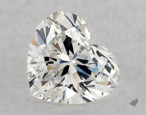 0.72 Carat H-SI2 Heart Shape Diamond
