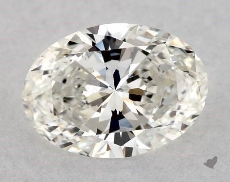 0.70 Carat H-VS1 Oval Cut Diamond