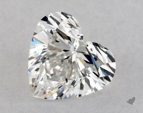 0.71 Carat G-SI1 Heart Shape Diamond