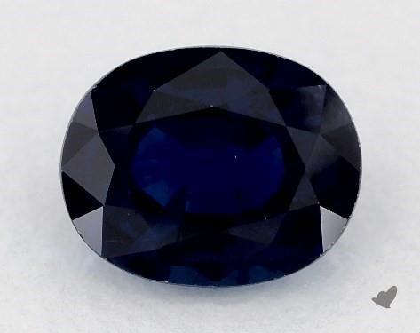 0.84 carat Oval Natural Blue Sapphire