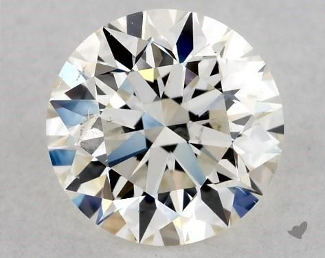 0.72 Carat K-I1 Excellent Cut Round Diamond