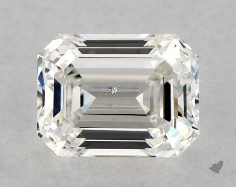 0.96 Carat H-SI2 Emerald Cut Diamond