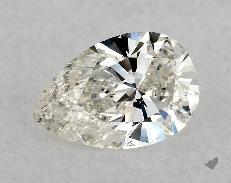 0.70 Carat J-SI1 Pear Shape Diamond