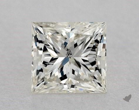 0.76 Carat K-SI2 Ideal Cut Princess Diamond