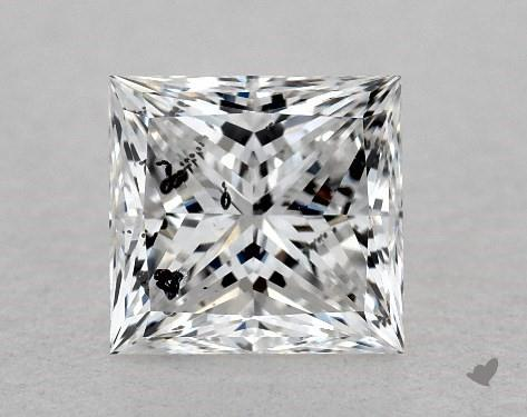 0.83 Carat E-I1 Ideal Cut Princess Diamond