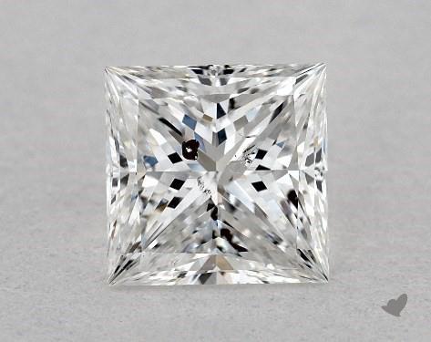 0.71 Carat E-I1 Ideal Cut Princess Diamond