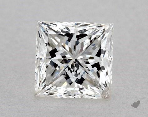 0.72 Carat F-I1 Ideal Cut Princess Diamond