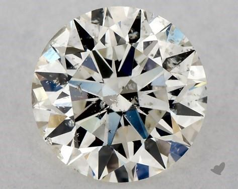 0.70 Carat K-I1 Excellent Cut Round Diamond
