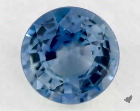 <b>0.78</b> carat Round Natural Blue Sapphire
