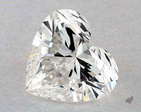 0.72 Carat H-VS2 Heart Shape Diamond